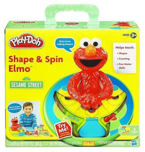 セサミストリート プレードー エルモ、スピン&プレイセット/ Play-Doh Elmo Shape and Spin Playset