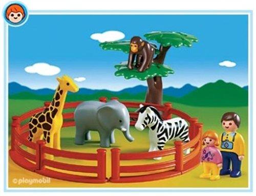 プレイモービル 1・2・3シリーズ 1.2.3動物園 6742