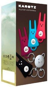 Karotz Key Ring and Its 4 Flatnanoz おもちゃ