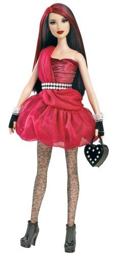 バービーBarbie All Dolled Up STARDOLL Brunette Doll Red Dress - Mix and Match Trendy, Original Fas