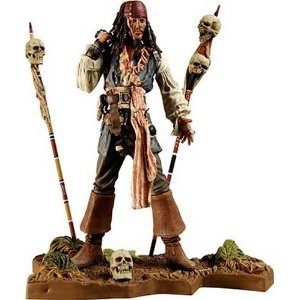 Pirates of the Caribbean Dead Man's Chest Series 3 Cannibal Jack Sparrow Figure