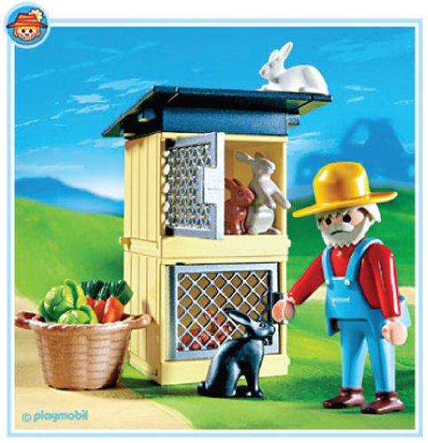 プレイモービル 動物 ウサギ小屋 4491