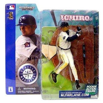 マクファーレントイズ MLBフィギュア /イチロー ユニフォーム白 /シアトル・マリナーズ