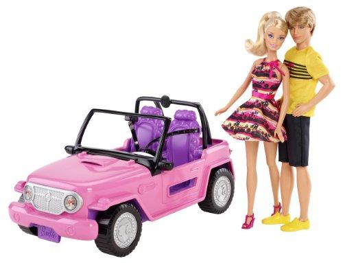 バービー ケンとビーチでドライブ