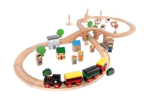 Tidlo Wooden Train Set (50 Pieces)