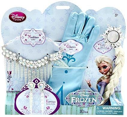 ディズニーフローズン限定 アナと雪の女王 プリンセスエルザのアクセサリーセット Disney Frozen EXCL