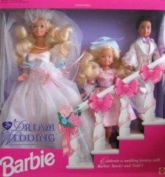 バービー ドリーム ウェディング Gift Set w バービー, Stacie Todd ドール (1993) 131002fnp
