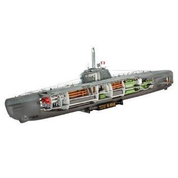 U-Boat Type XXI German Submarine w/Interior 1/144 Revell Germany おもちゃ