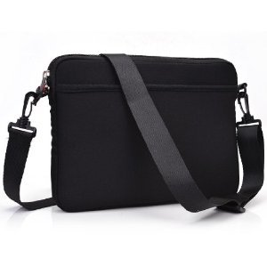 BLACK Scoop Series Tablet Carrying Bag Sleeve with Shoulder Strap for Apple iPad Mini Wi-fi Tablet