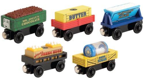 ラーニングカーブ きかんしゃトーマス 木製レール クッキー工場貨車セット 99136