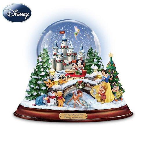 人気キャラクターが勢揃い!・ディズニークリスマス ミュージカルスノーグローブ  Bradford Exchange社