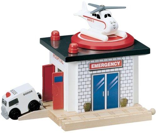 ラーニングカーブ きかんしゃトーマス 木製レール 救急病院 99349