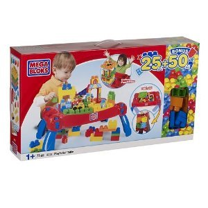 Mega Bloks Play'n Go Table + 50 ボーナス bloks