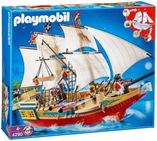 プレイモービル 戦士・バイキング ガイコツ海賊船 4290