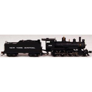 Bachmann Industries Baldwin 4-6-0 Steam Locomotive - ニューヨーク Central 1235 N Scale - DCC on Bo