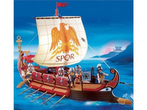 プレイモービル 戦士・バイキング 古代ローマ戦士の船 4276