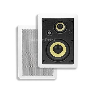 5-1/4 Inches 3-Way High Power In-Wall Speaker スピーカー (Pair ペア)