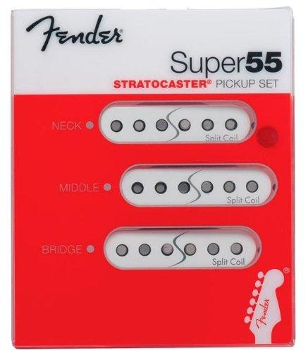 Fender Super 55 Split Coil Stratocaster Pickup Set White