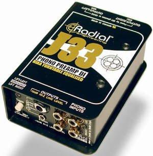 RADIAL J33 ターンテーブル用 フォノ・プリアンプ ラディアル DI