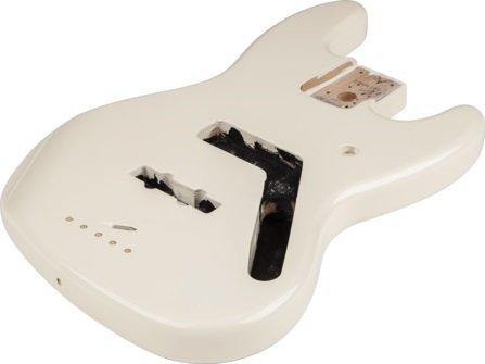 フェンダー Fender Mexico 純正パーツ 998008780 Jazz Bass Alder Body, Arctic White Vintage Bridge