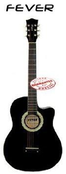 Fever (フィーバー) 3/4 Acoustic Cutaway 38 Inches Guitar Black FV-030C-BK アコースティックギター