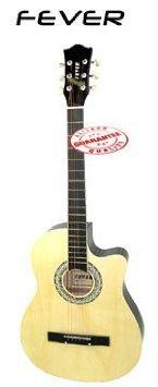 Fever (フィーバー) 3/4 Acoustic Cutaway 38 Inches Guitar Natural FV-030C-NT アコースティックギター