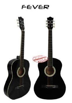 Fever (フィーバー) 3/4 Size アコースティックギター 38 Inches Black FV-030-BK アコースティックギタ