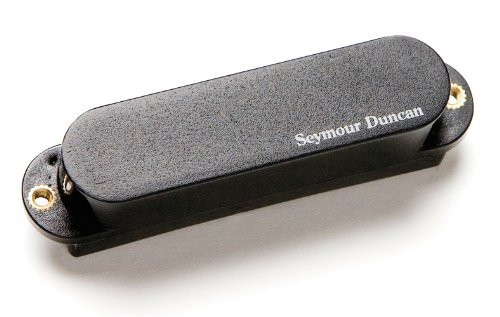 Seymour Duncan (セイモアダンカン) AS-1n Blackouts Single Neck/Middle ピックアップ for Strat, Black