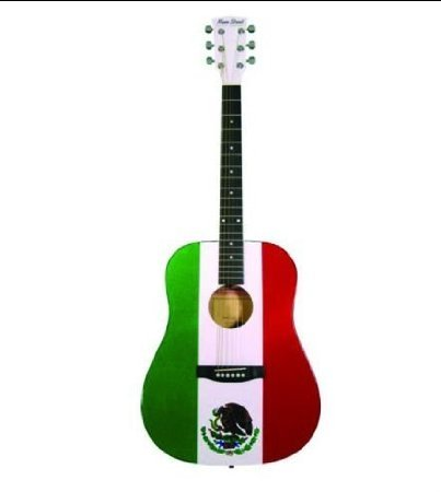 Main Street Guitars MAMF Dreadnought アコースティックギター in Mexican Flag Finish アコースティッ