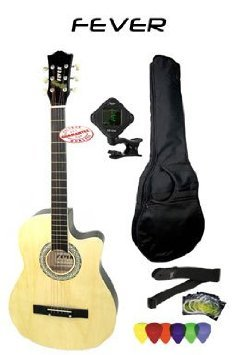 Fever (フィーバー) 3/4 Size Acoustic Cutaway Guitar Packages Natural FV-030C-NT-PACK アコースティ