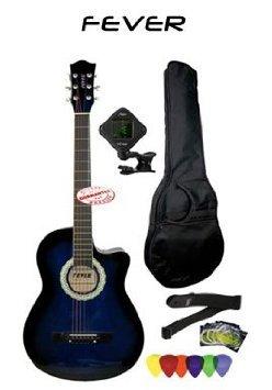Fever (フィーバー) 3/4 Size Acoustic Cutaway Guitar Packages Blueburst FV-030C-DBL-PACK アコーステ