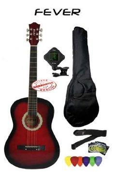 Fever (フィーバー) 3/4 Size アコースティックギター Package Red FV-030-RD-PACK アコースティックギタ