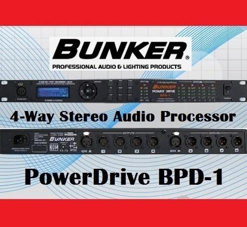 BUNKER PowerDrive BPD-1 Audio Processor 2 x 8 ラウドスピーカー マネジメントシステム