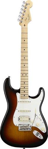 Fender 2012 American Standard Stratocaster HSS Electric Guitar with Maple Fingerboard 3-Tone Sunbu