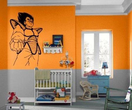 ドラゴンボールZ ベジータ ウォールステッカー 部屋 インテリア 壁 デコレーション ほとんど何にでも貼