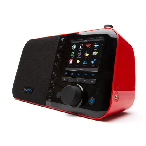 Grace Digital Wi-Fi Music Player Wifiミュージックプレイヤー with 3.5-Inch Color Display 3.5インチ