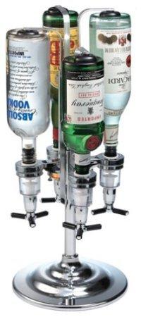 ドリンクディスペンサー  Global 1リットルまでのボトルを4本収納 Decor