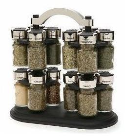 オールドトンプソン カルーセル 16ジャー スパイスラック Olde Thompson Carousel Spice Rack with 1