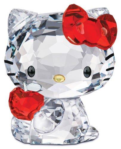 スワロフスキー SWAROVSKI クリスタル フィギュア Hello Kitty Red Apple (ハローキティ 赤リンゴ) Hello