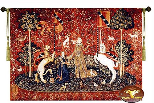 味覚/貴婦人と一角獣 中世アートジャガード織 タペストリー