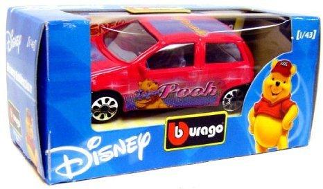 Disney (ディズニー) Burago 1/43 Winnie the Pooh Car ミニカー ダイキャスト 車 自動車 ミニチュア 模