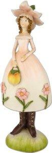 9 inch Decorative Porcelain Wild Rose Flower Fair Lady Doll ドール 人形 フィギュア