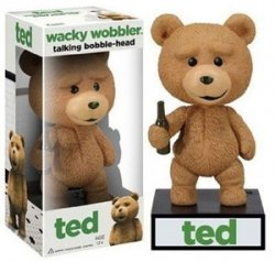 ファンコ Talking Ted Wacky Wobbler Bobble Head 131002fnp