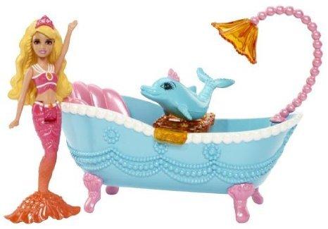 Barbie(バービー) The Pearl Princess Small Doll Furniture Set, Blue ドール 人形 フィギュア
