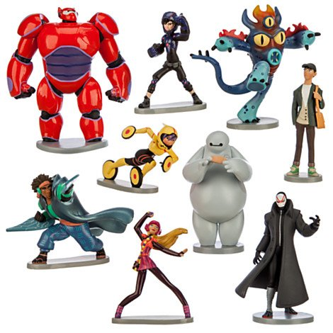 Disney Big Hero 6 Figure set ベイマックス 9点 フィギュアセット 海外直送品