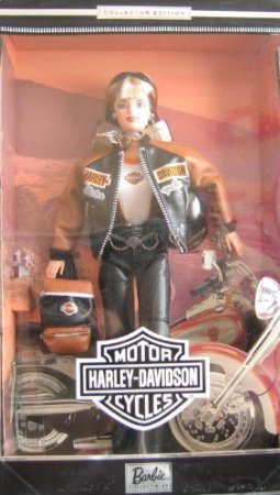 Harley Davidson Barbie(バービー) Doll Collector Edition # 4 w Back Pack (1999) ドール 人形 フィギ