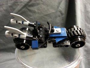 Batman (バットマン) Lego (レゴ) Batcycle from lego set 6857 Dynamic Duo Funhouse Escape ブロック