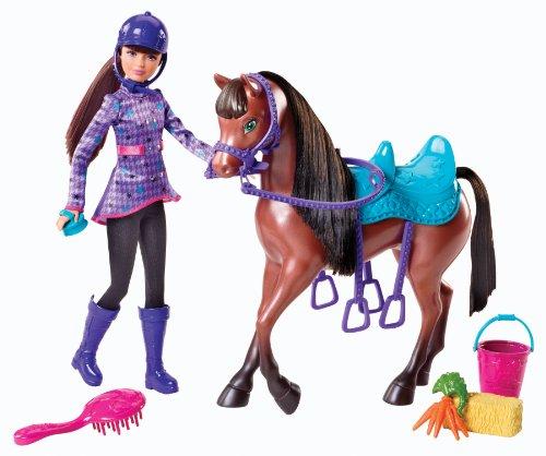 BARBIE PONY TALE SKIPPER DOLL & HORSE