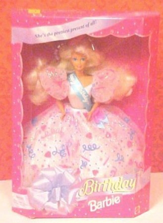 1994 Happy Birthday Barbie(バービー) Doll Confetti Gown ドール 人形 フィギュア