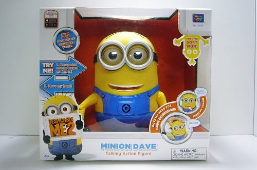 Despicable Me 2 Minion Dave Talking Action Figure (Frustration Free Packaging) フィギュア ダイキャ